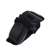 W Waterproof Mountain Road Bicycle Tail Bag Saddle Bag Bike Pouch Cycling Seat Bag Black Sundries Storage Bag