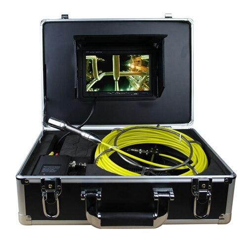 20 м канализационные Водонепроницаемый Камера трубы сливного трубопровода inspection Системы 7 ЖК дисплей DVR осмотра трубопровода Системы