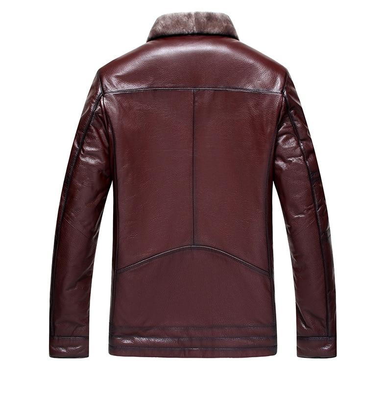 HTB1BM1obyHrK1Rjy0Flq6AsaFXan Men Genuine Leather jackets Brand 2019 New Men Wool Liner Winter Warm Coats Luxury Male Cow leather Outerwear