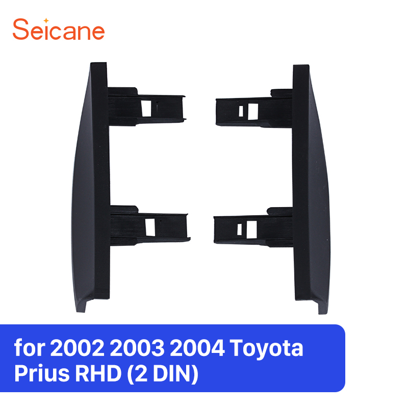 Seicane 2Din 178*100mm Black Car Radio Fascia Frame Installation Dashboard For 2002 2003 2004 Toyota Prius RHD