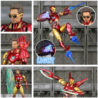 Marvel 2019 Avengers 4 Endgame Iron Man MK85 6 Repainted Custom Action Figure Ironman Mark 85 KO's SHF Tony Stark Legends Toys