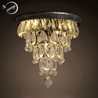 Modern Loft Industrial Vintage Retro Crystal Ceiling Lights E14 Plafonnier LED Lamp Fixture Luminaire For Living