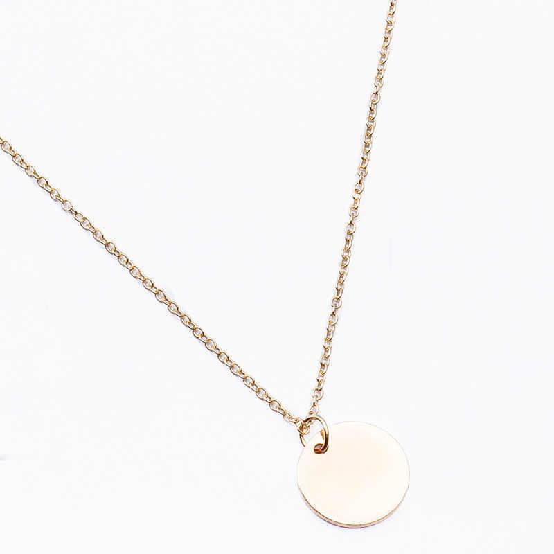 Nieuwe Fashion Shiny Gold Kleur Pailletten Coin Hanger Vrouwen Choker Ketting Bohemian Korte Keten Collares Ketting Sieraden Meisje Gift