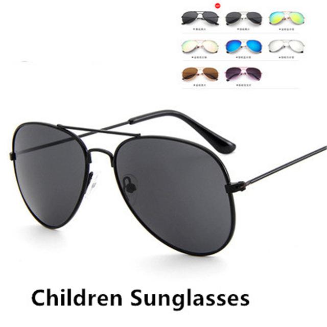 New Child Pretty Goggles Girl Alloy Sunglasses Fashion Boy Girl Child Classic Vintage Cute Sunglasses UV400