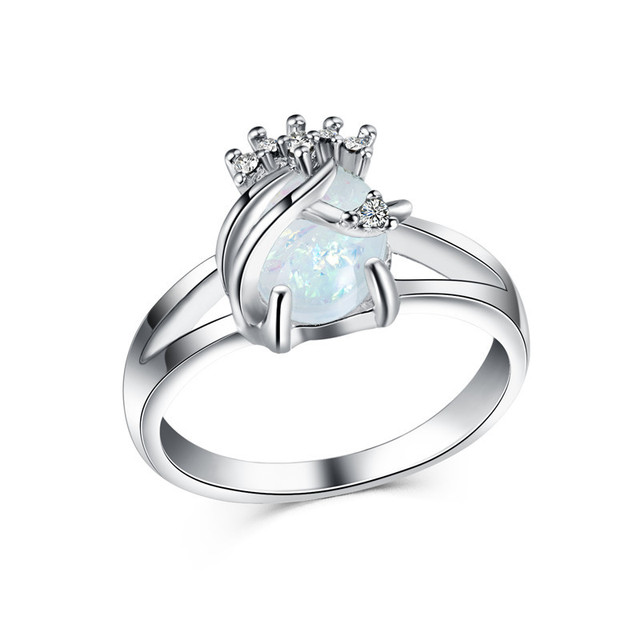 Fashion Lady Imitation Australian Gem Ring Cubic Zirconia Engagement Wedding Band Rings For Women Men Whole