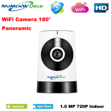 180 Degree Panoramic Fish Eye Lens IP Camera Wifi Wireless Night Veresion kamera APP Remote Control Wireless P2P IP Webcam