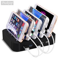 USB Charging Station Dock With Stand Holder 5 Ports 2.4A Multi Function USB Charger For Mobile Phone Tablet PC US UK EU Version