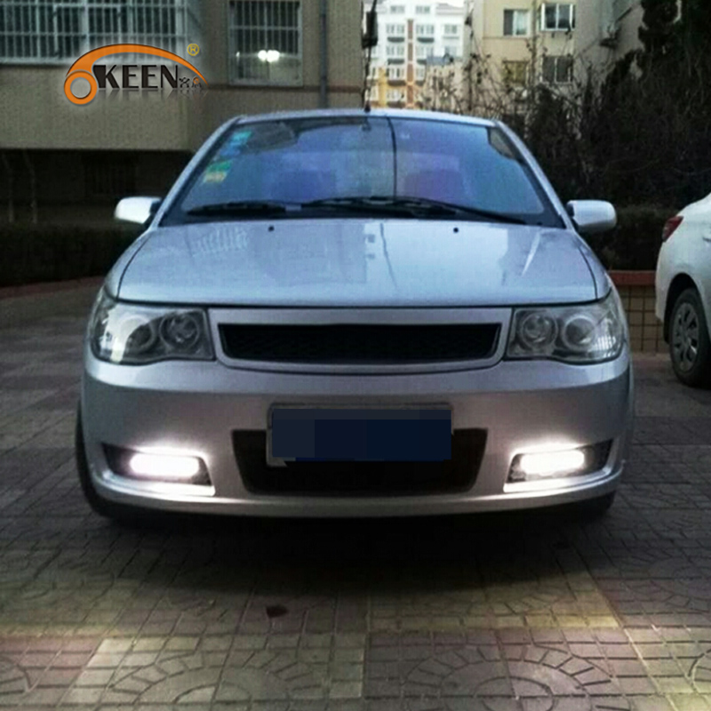 KEEN Car-styling LEDs DRL Daytime Running Lights 8 LED White Light Waterproof crystal case 2PCS 12V Car Fog Lamp Car Styling аксессуары для виниловых проигрывателей ortofon stylus 2m mono
