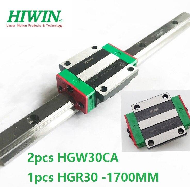 1pcs 100% original Hiwin linear guide HGR30 -L 1700mm + 2pcs HGW30CA HGW30CC flange block for cnc router1pcs 100% original Hiwin linear guide HGR30 -L 1700mm + 2pcs HGW30CA HGW30CC flange block for cnc router