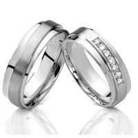 2015 New Unique Silver 18k White Gold Color Titanium Jewelry Engagement Wedding Bands Promise Rings Sets