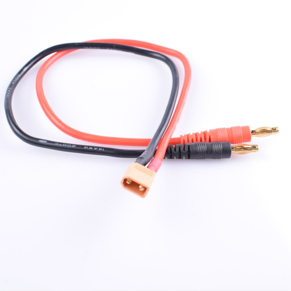 Traxxas TRX Male Charger Lead with 4.0 Banana Bullet Male Plug 150MM 14AWG Wire