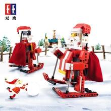 Technic Санта Клаус горячая Распродажа Legoingly друзья фигурки Bluding блок модель управление светом звуком рождественские подарки для детей игрушки FSWOB