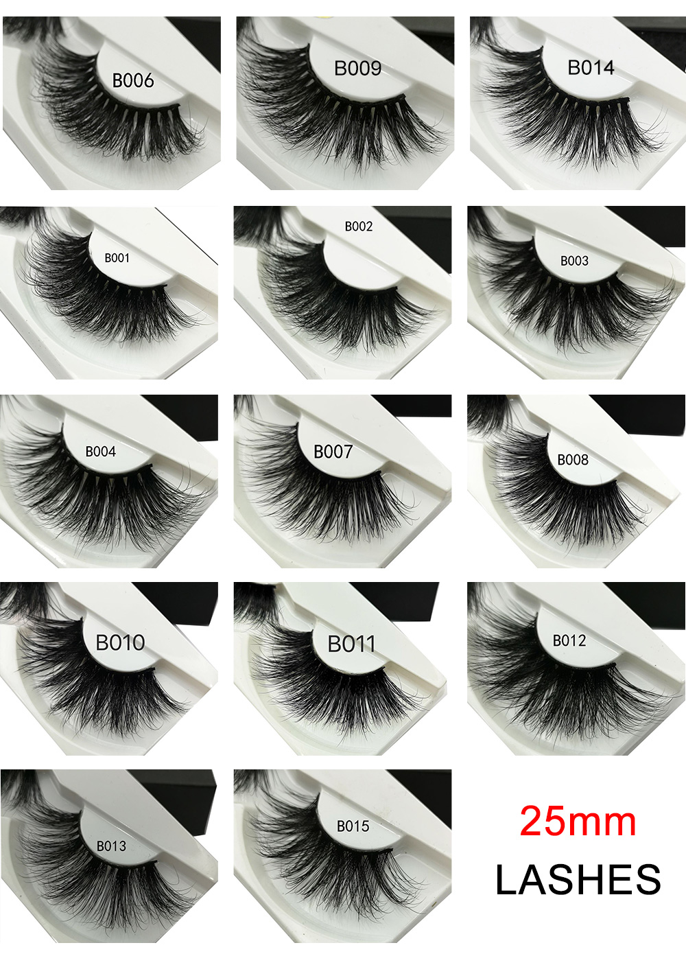 Worldwide delivery 100 pairs 3d mink lashes wholesale in
