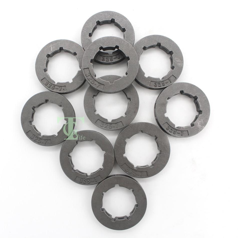 10Pcs .325 7T Mini Spline Chain Drive Sprocket Rim Wheel Fit HUSQVARNA 340 345 346 XP 350 351 353 355 357 359 444 Chainsaw Parts