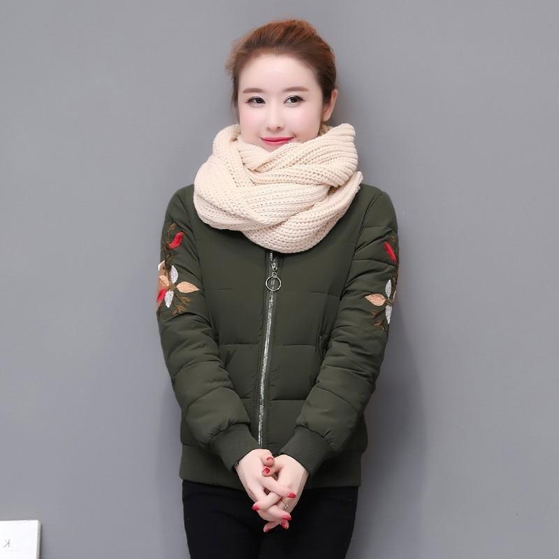 Cortavientos Tang Chaqueta Satén Militar H129 verde 2018 Femenino rosado Se  Abrigo Casual Bordado Negro Flor ... 4605cbc12246