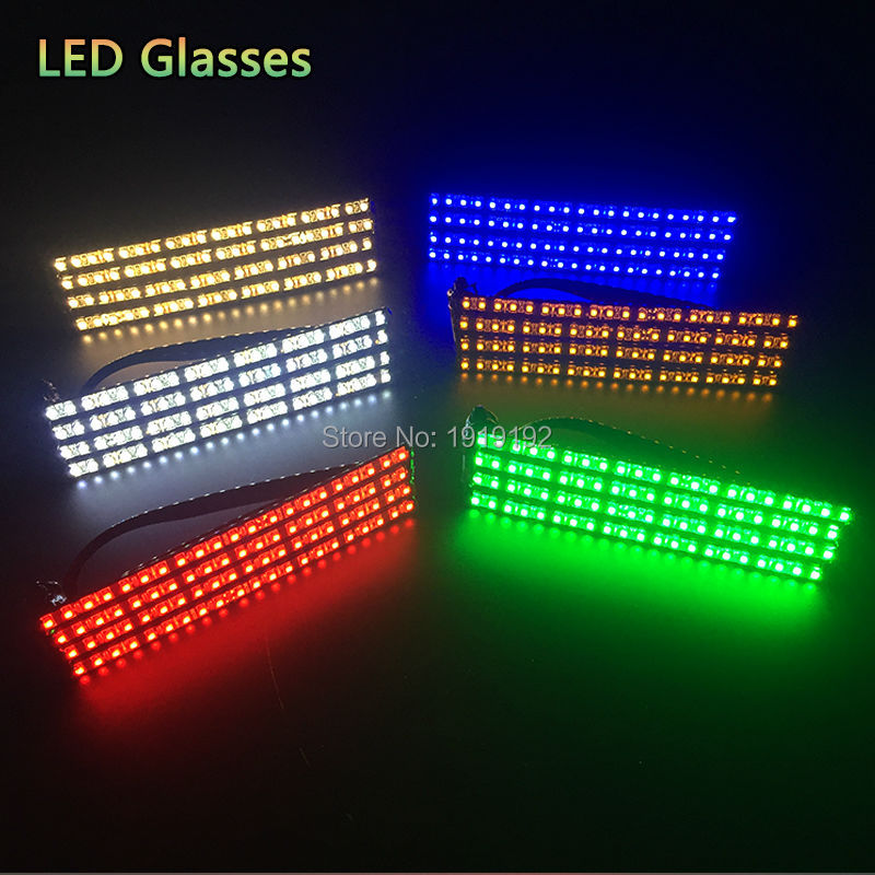 Fashion 10 pcs LED Party Lighting Glasses Led Neon Glasses for Xmas Easter Birthday Halloween Party Bar Costume Decoration