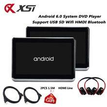 XST moniteur de voiture, 2 pièces, repose tête avec moniteur de 10.1 pouces HD 6.0 P sur Android 1080, lecteur vidéo avec WIFI et HDMI, prend en charge USB SD Bluetooth et transmetteur FM