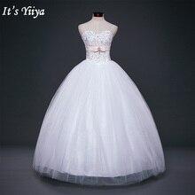 Свадебное платье It's Yiiya, свадебное платье белый принцесса,дизайнер перегородки зашнуровать, невесты платья,весна-лето,Y326