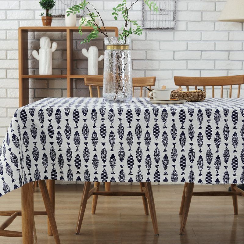 c3b909a1b Modern fish photo print cotton linen Table Cloth party restaurant Home  Decoration cover 5size 1pcs price free ship-in Tablecloths from Home    Garden on ...