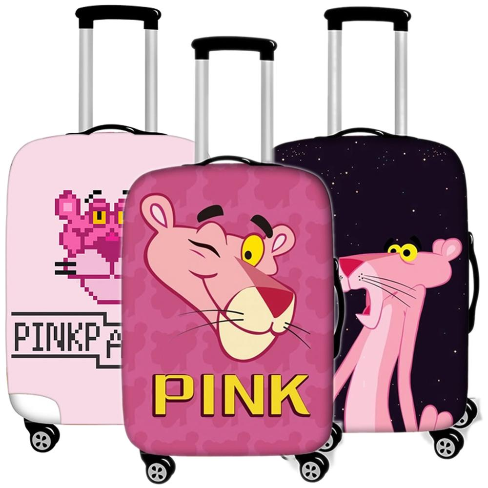 Cartoon Pink Panther Luggage Case Protective Cover Elastic Travel  Suitcases Dust Cover Accessories Organizadores 18 To 32 Inche