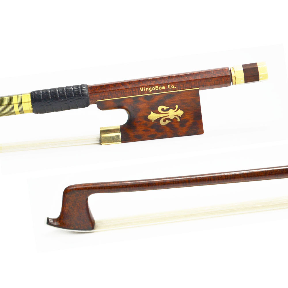 127V 4/4 Size VIOLIN BOW Carbon Fiber Core with Pernambuco Skin Stick Snakewood Frog Natural Horsehair Violin Parts Accessories violin bow 4 4 high grade brazil wood ebony frog colored shell snake skin violino bow fiddle violin parts accessories bow