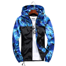 Men Bomber Jacket Thin Slim Long Sleeve 2018 Hip Hop Camouflage Military Jackets Hooded Windbreaker Zipper Outwear