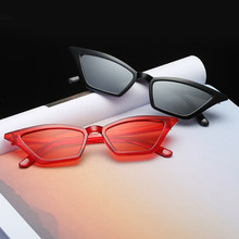 Vintage Sunglasses Women Cat's Eye Luxury Brand Designer Sun Glasses Retro Small Red ladies Sunglass Black Eyewear oculos(China)