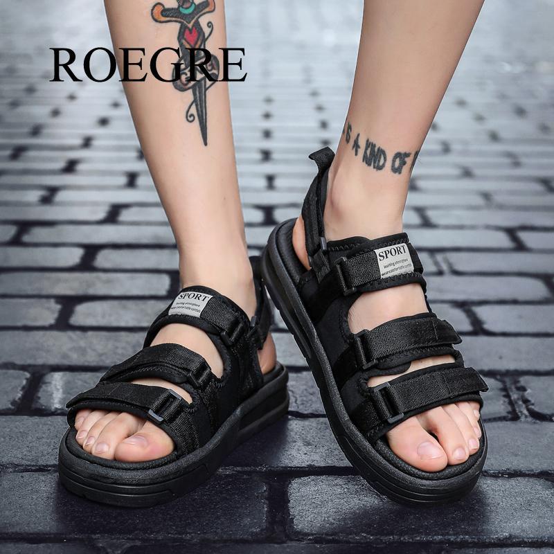 Man Sandals Summer Shoes New Breathable Men Slippers Mesh Lighted Casual Shoes Beach Flip Flops Brand Flip Flops Roman Shoes 48