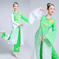Adult Women's Chinese Yangko Dress Costume Chinese Classic National Lady Dancing Clothes Female Stage Performance Wear