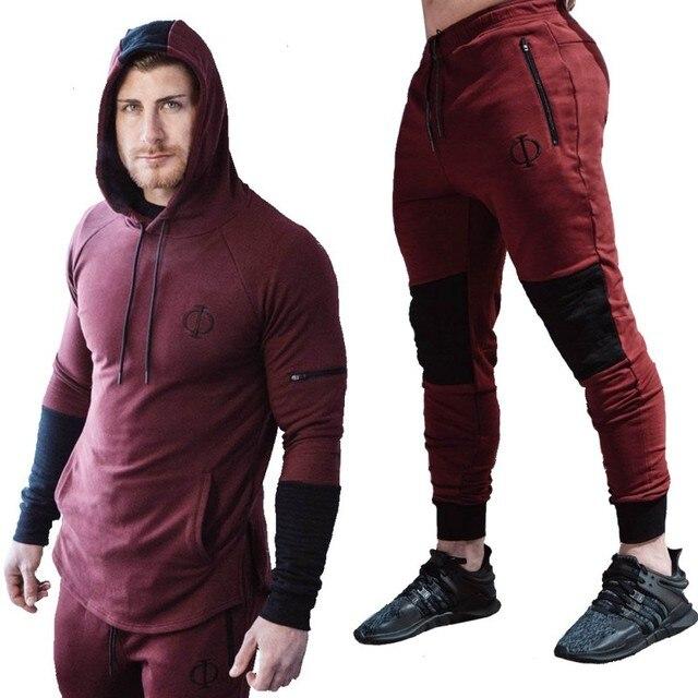 14488dc81 € 14.5 40% de DESCUENTO|Nuevo conjunto de primavera 2018 conjunto de ropa  deportiva de moda para hombre conjuntos de sudaderas con capucha para ...