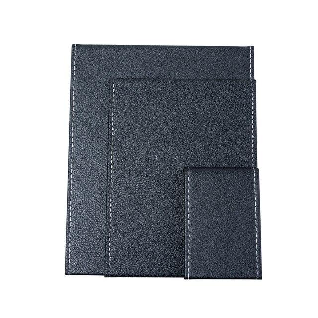 Pink Black Travel Mirror Foldable Pocket Portable Stainless Steel Rectangular Mirror Makeup Folding Compact Desktop Table Mirror 5