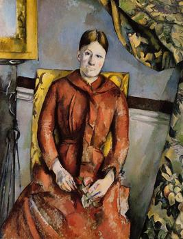 Paul Cezanne Oil Painting Reproduction,handmade oil painting,madame-cezanne-in-a-yellow-chair,canvas oil painting,high quality
