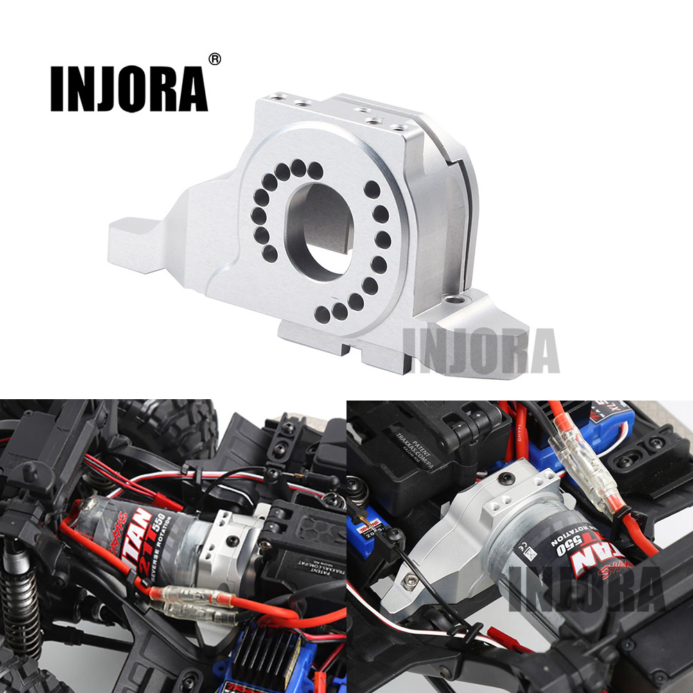 INJORA Aluminum Alloy Motor Mount Heat Sink for 1/10 RC Crawler Traxxas TRX-4 Defender TRX4 Bronco #8290 hot racing heat sink motor mount for axial yeti xl 90032 90038 new