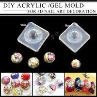 1pcs Lot 8mm 11mm DIY Acrylic Gel Mold For 3d Nail Art Decoration