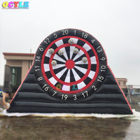 Free air shipping to door 4/5m big inflatable foot dart board/inflatable football soccer dart board game/giant soccer darts game