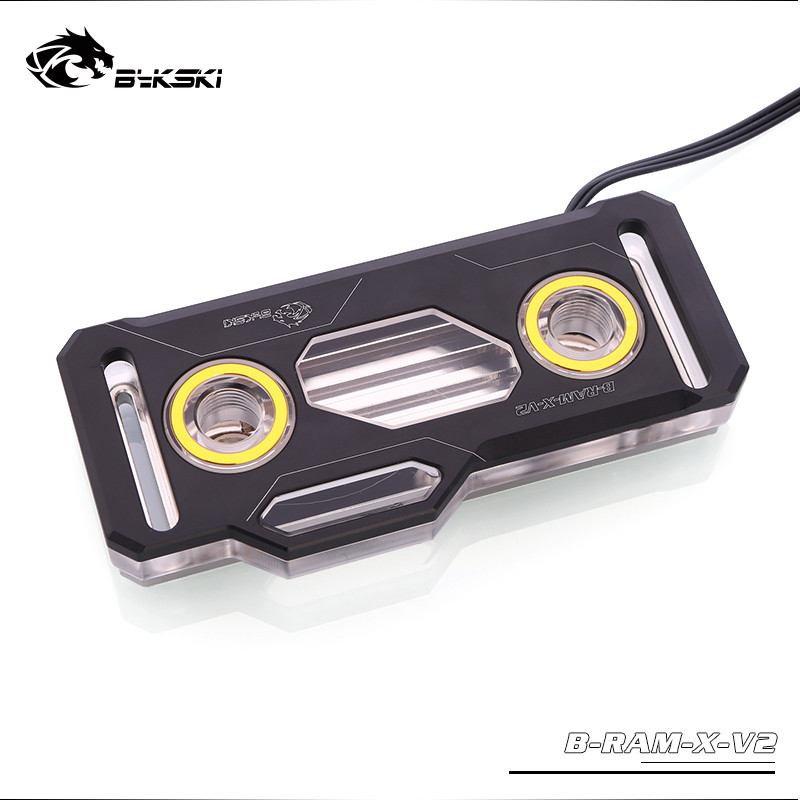 Bykski Acrylic Aluminum RAM Water Block supports Dual ChannelS Memory water cooling RBW 5V 3PIN B