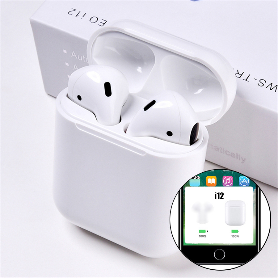 b1ec4c5f85b i12 tws Pop Up Bluetooth Earphones Wireless Touch Control Earbuds Headset  i12tws not 1:1 replica i30 tws i20 i10 i30tws lk-te9