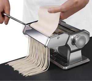 Image 3 - Машина для изготовления лапши, пасты из нержавеющей стали, машина для изготовления лазаньей, резки, Равиоли, вареников, машина с двумя резаками