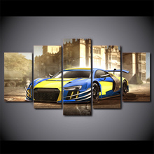 Canvas Living Room Framework HD Home Decoration Pictures Modern 5 Panel Sports Car Painting Wall Art Modular Printed Poster
