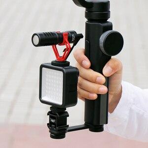 Image 5 - ميكروفون مع اكسسوارات Gimbal LED الفيديو الضوئي الحذاء البارد يوتيوب تسجيل الدخول إعداد الفيديو للهواتف الذكية DJI oaza موبايل موزا