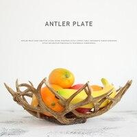 Europe Resin Antler fruit tray Cake Tray Dessert Shelf Creative Modern Kitchen Tableware Decorative Plate Home Decorations