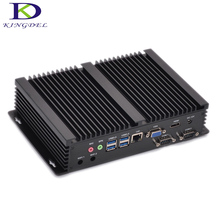 Kingdel I3 Mini Computer Fanless Mini PC Windows 10 Core i3 4010U i3 5005U i5 4200U i7 5550U VGA 2*RS232 industrial PC Rugged PC