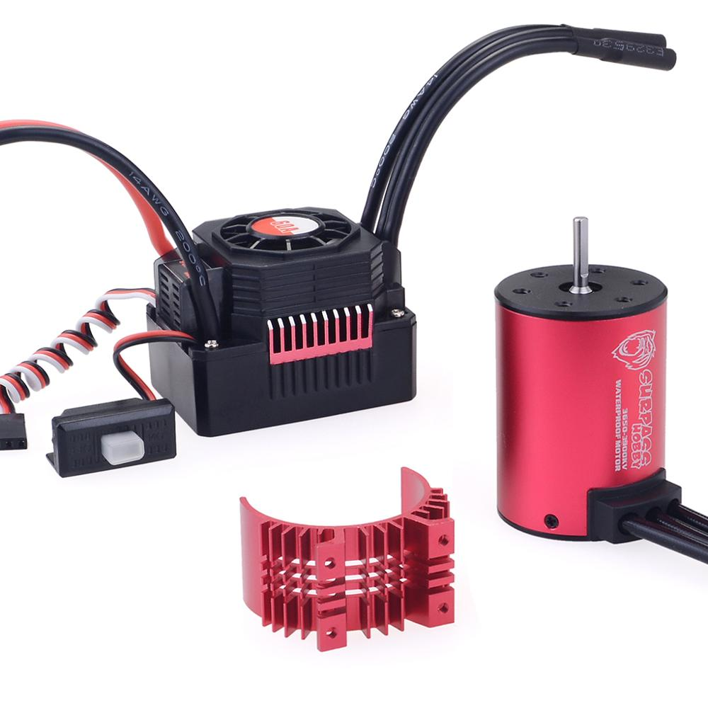 Image 2 - KK Waterproof Combo 3650 1650KV 2050KV 2300KV 3100KV 3600KV 4500KV Brushless Motor w//Heat Sink 60A ESC for RC 1/10-in Parts & Accessories from Toys & Hobbies