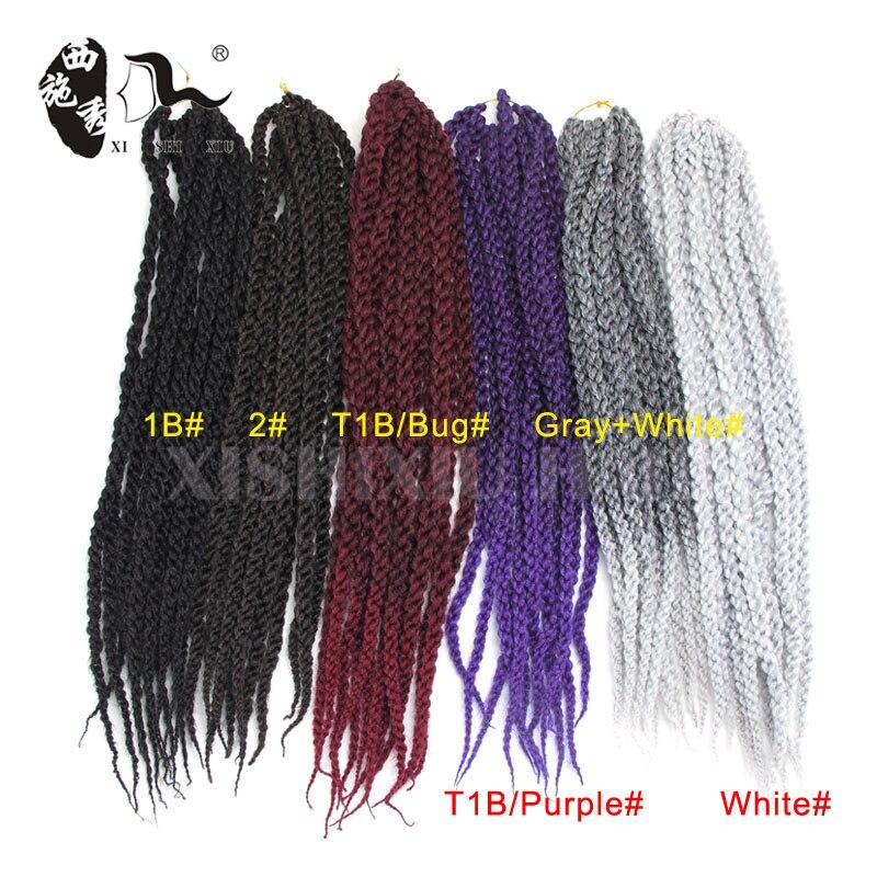 Ombre 2 Tone Color 22 3d Cubic Twist Split Synthetic Crochet Braids