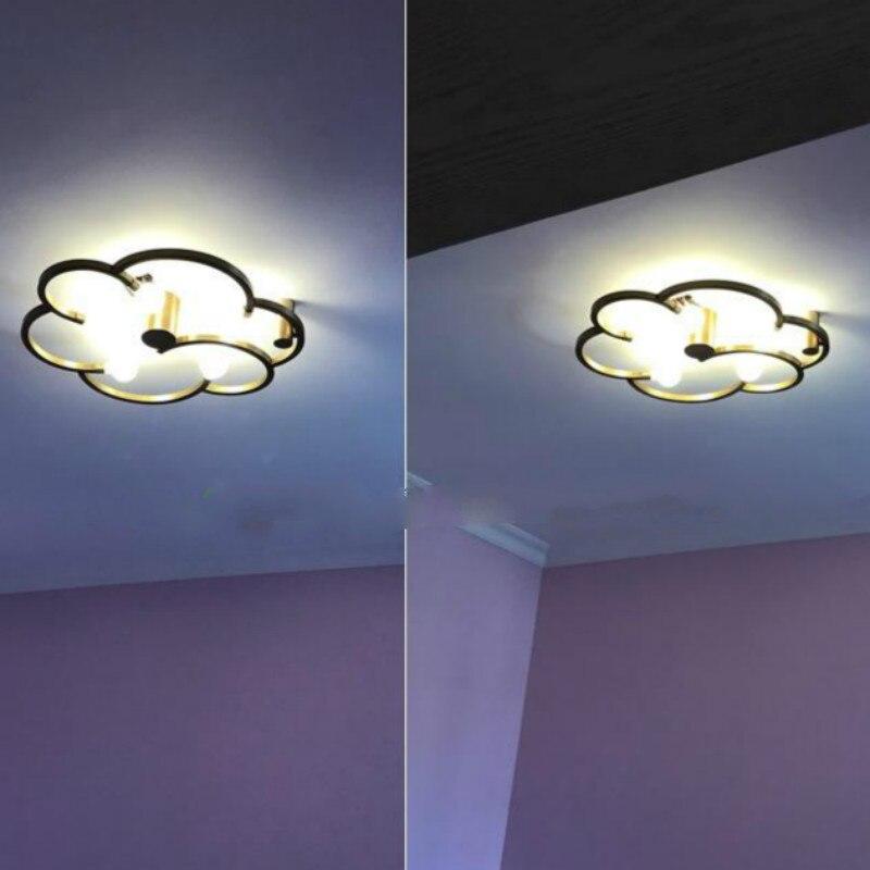صالون سحابة شكل السقف مصباح الحديثة المطبخ النحاس Led أضواء السقف الجدة لماعة ل حديقة مطعم غرفة المعيشة الشمعدان|أضواء السقف|   -