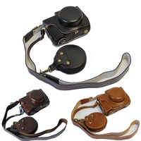 High Quality PU Leather Camera Bag Luxury Vintage Case Cover With Strap For Olympus EPL8 EPL