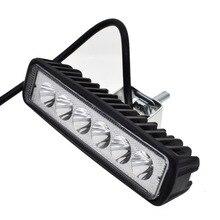18 Вт светодио дный 6 светодиодный свет работы бар дальнего света туман Off High яркость внедорожник автомобиль грузовик стайлинга автомобилей