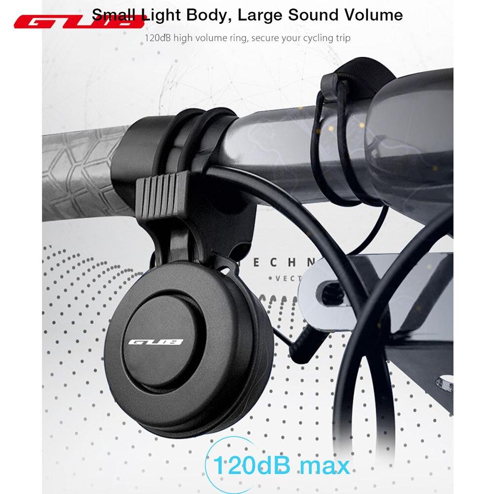GUB Q-210 recargable impermeable volumen Loud ciclismo manillar bicicleta eléctrica Mini anillo campana de alarma bocina de Bicicleta electrónica