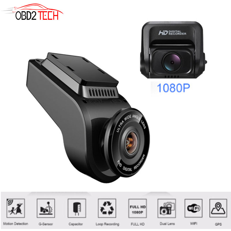 Dual Lens WiFi Car DVR Recorder Dash Cam T691C Vehicle Rear Camera Built in GPS Camcorder 4K 2160P Night Vision Dashcam