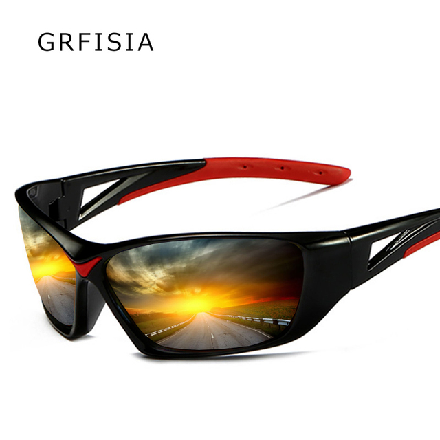 7c98c984e2d GRFISIA Very Cool Square Frame Men Polarized Sunglasses Drive Outdoor  Sports protect Eyes Sun Glasses Male Polarized Shades G416